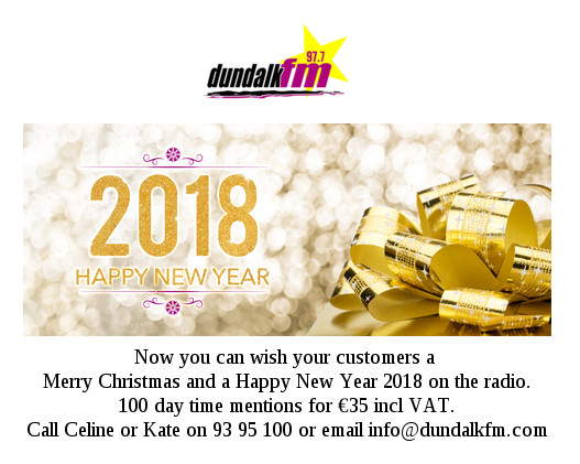 Dundalk FM Happy New Year Offer
