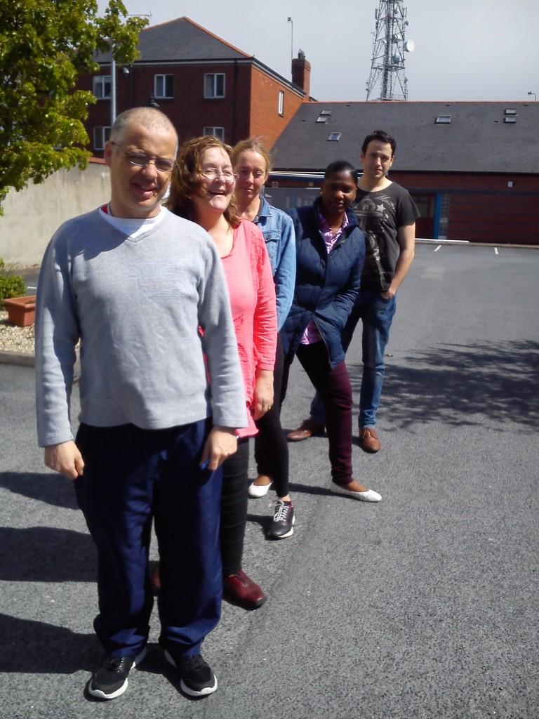 Ray McEnaney, Carole Wallace, Amanda Nel, Naomi Mandungu and Patrick Morgan. April 2015