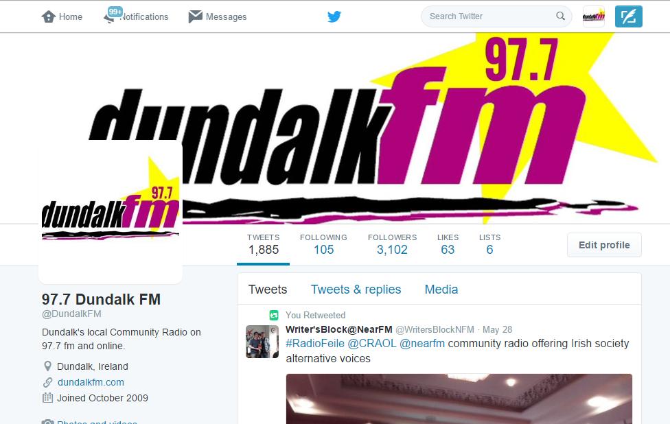 Dundalk FM Twitter pic
