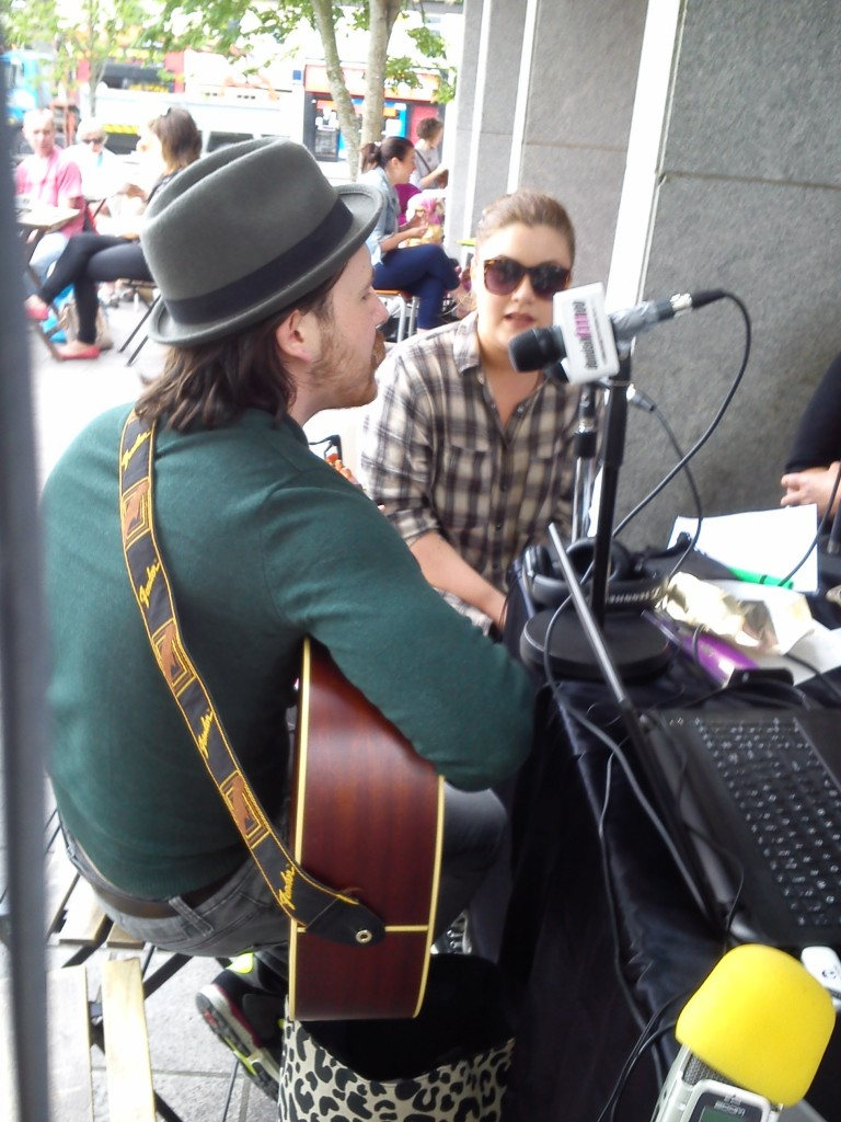 Anton and Steph playing LIVE at the Market Square, Dundalk during #NationalCRDAY on 19th June 2015.