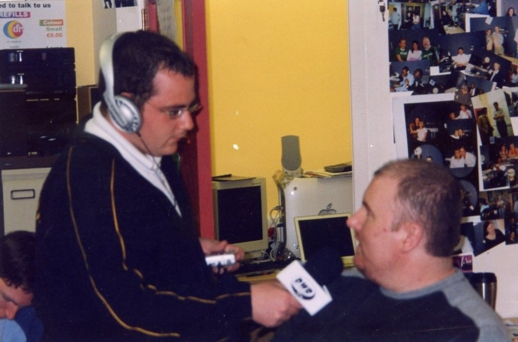 Sean McGee interviewing Padraig Quigley