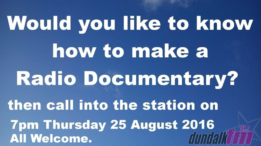 Radio Doc Workshop August 20160825
