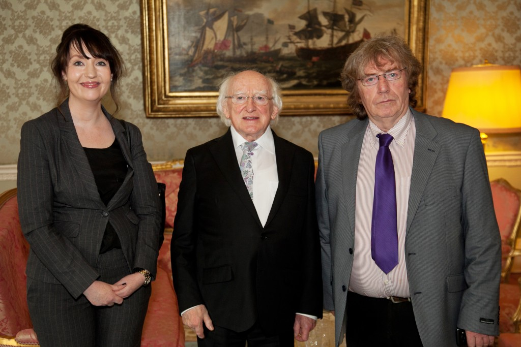 Paul Sherwood CRAOL - 20th Anniversary. Visit to the Aras by members of CRAOL. Pic Paul Sherwood.