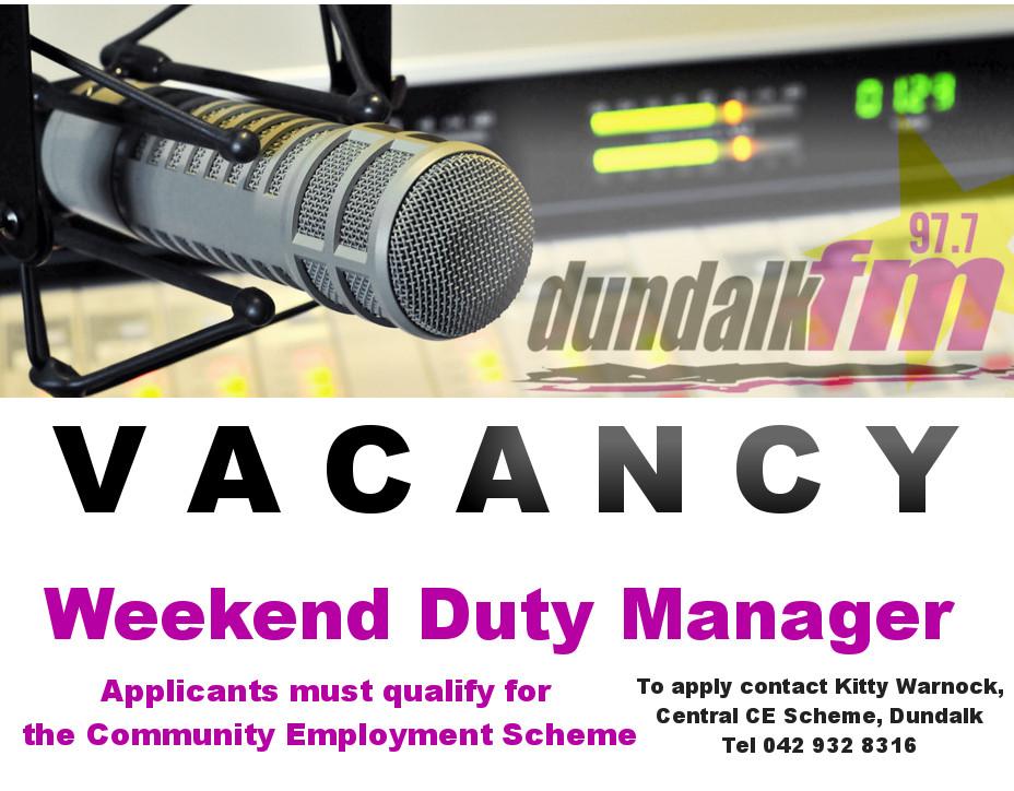 WDM Vacancy 20170130