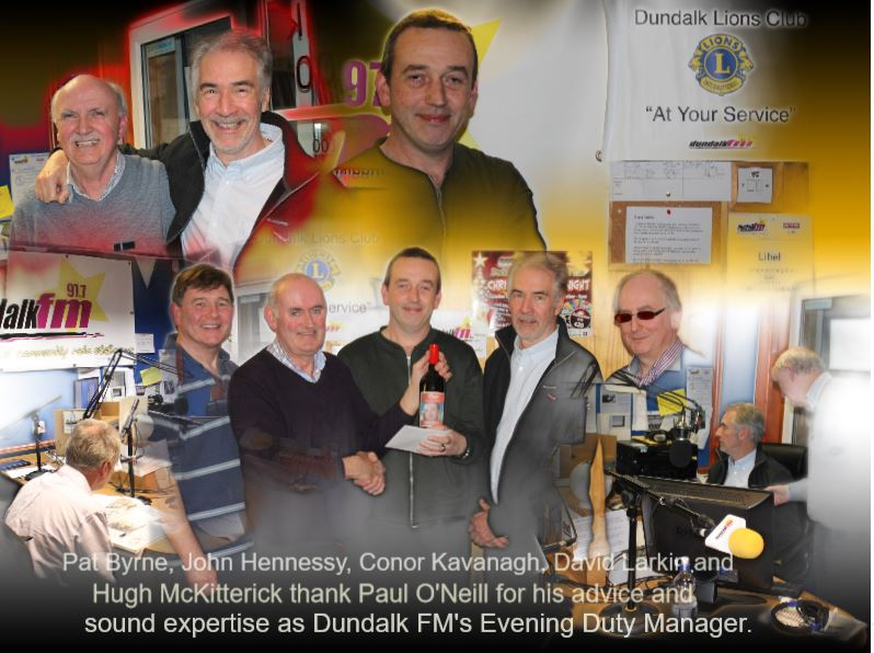 Dundalk Lion's Club presentation to Paul O Neill