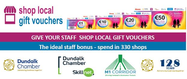 Dundalk FM Radio Courses and Advertising Campaigns can can be paid for with Shop local Vouchers