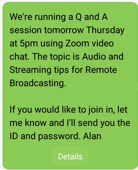 sms invite